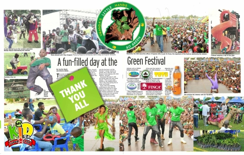 the AMAZING 2014 GREEN FESTIVAL UGANDA .