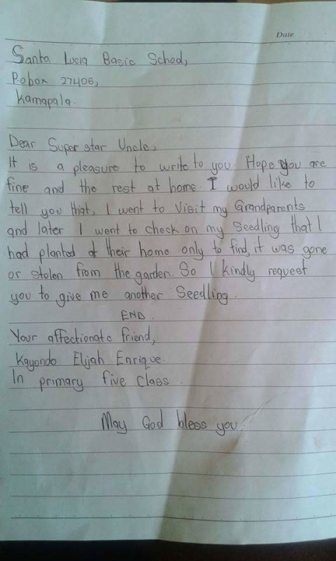 Priceless Letter From A Green Superstar Kid.